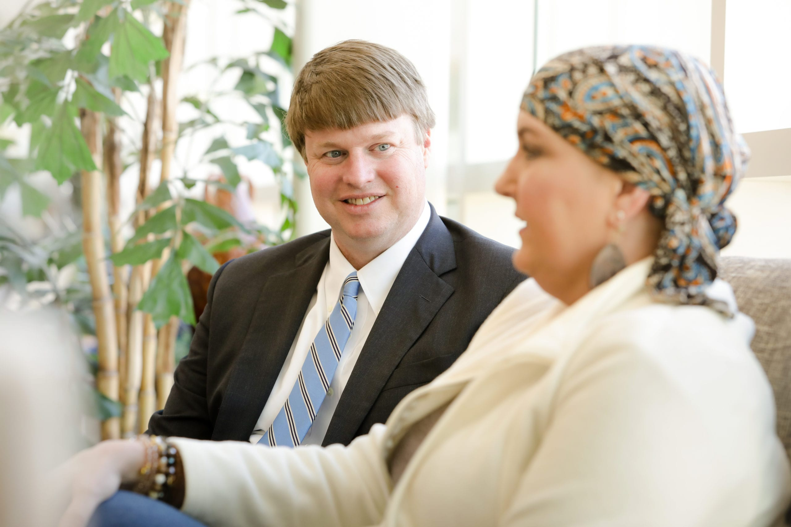 Central Georgia Cancer Care Dr. Sumrall with Patient